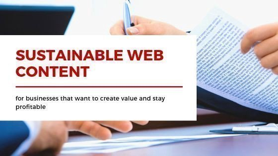 Maintain sustainable web content ethical and productive