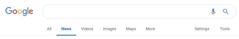 google old search bar
